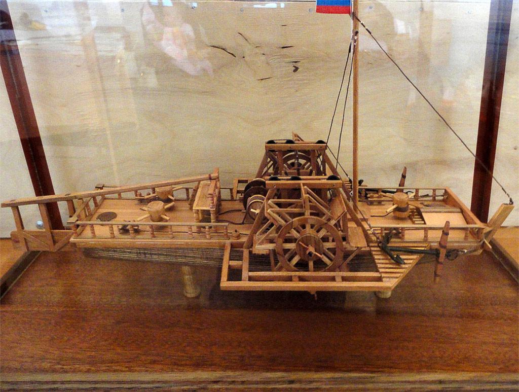 Модель водоходного судна Кулибина