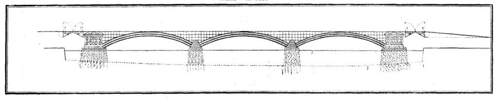 Кулибинский проект трехпролётного металлического моста (по «Рукописным материалам. И. П. Кулибина»)