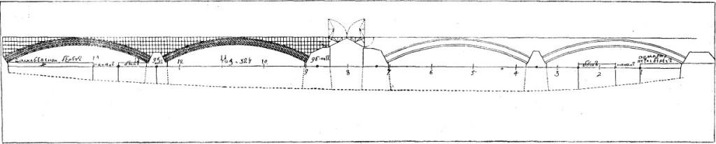 Кулибинский проект четырехпролётного моста с разводной частью (по «Рукописным материалам. И. П. Кулибина»)