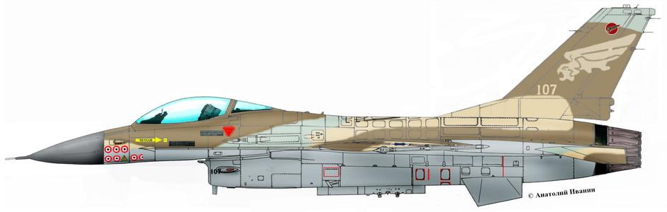 Истребитель F-16А «Файтинг Фалкон»