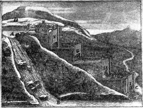 Шлюзная лестница. Иллюстрация из «Книги о способах, творящих водохождение рек свободное», ок. 1710 г.