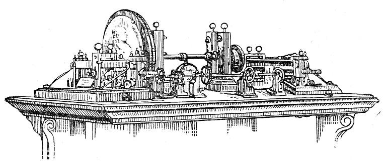 Токарно-копировальный медальерный станок Нартова. 1721 год. Государственный Эрмитаж