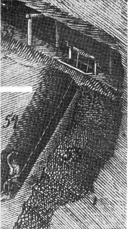 Ручной ворот для подъёма руды на Змеиногорском руднике. Чертеж выполнен выдающимся российским гидротехником XVIII века К.Д. Фроловым