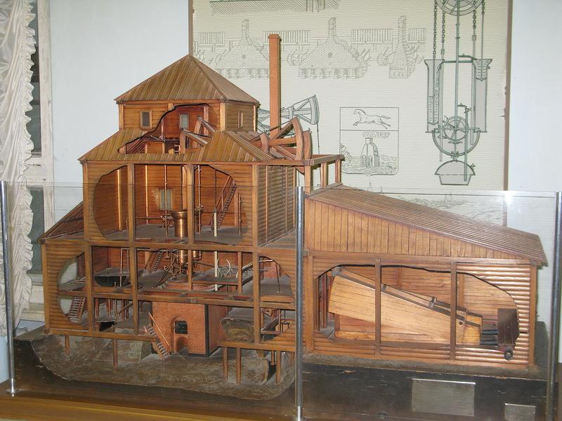 Макет здания, в котором размещалась паровая машина Ползунова