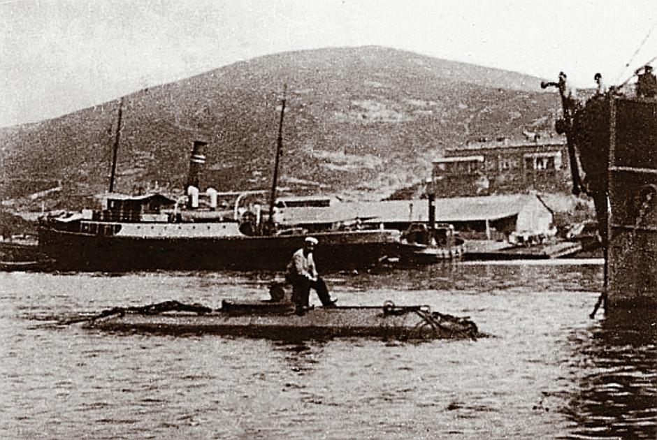 Порт-Артур. ПМЗ М.П. Налётова в ходе испытаний, 1904 год
