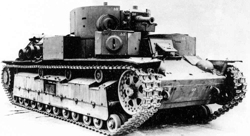 Танк Т-28 с приваренными дополнительными броневыми листами
