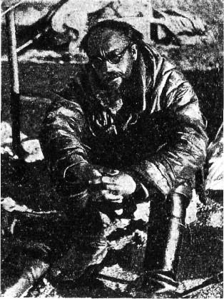 Г.А. Ушаков в конце маршрута вокруг острова Октябрьской революции