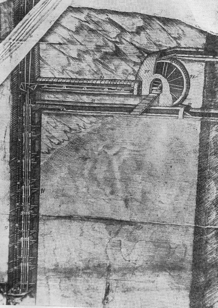 Чертеж нижней части Вознесенской шахты по проекту 1783 г.