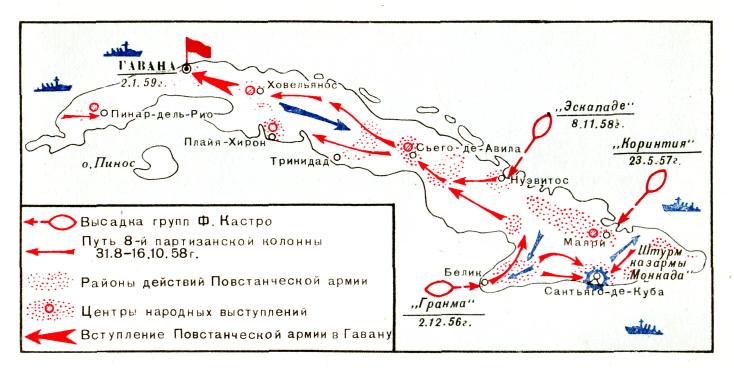 Ход боевых действий на Кубе (1956-1959 гг.)