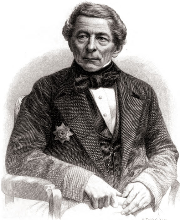 И.X. Гамель. Гравюра А. Тейхеля, 1868 г.