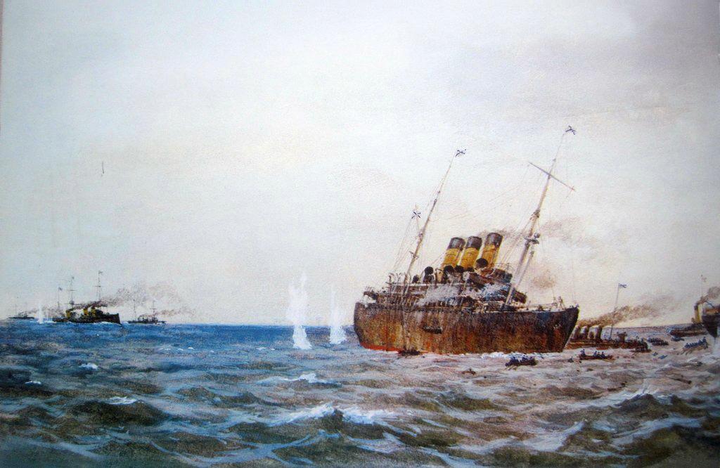 """Вспомогательный крейсер Урал"""". Цусимский пролив, 14.05.1905 г."""