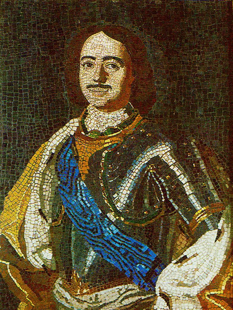 Мозаичный портрет Петра I. Работа ломоносовской мастерской (1760 г.). Государственный Эрмитаж