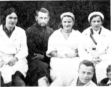 В госпитале под Калугой после ранения. Август 1941 года