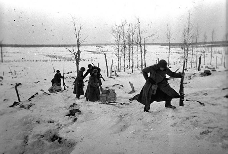 Финская война. Доставка взрывчатки и боеприпасов