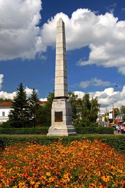 Памятник в честь 100-летия Алтайских заводов, построенный по проекту П.К. Фролова