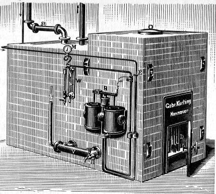 Котёл Кертинга низкого давления для парового отопления