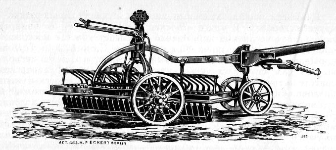 Машина Эккерта для очистки улиц от грязи