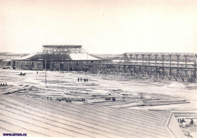Строительство павильона Строительного и Инженерного отделов по проекту инженера В.Г. Шухова (г. Нижний Новгород)