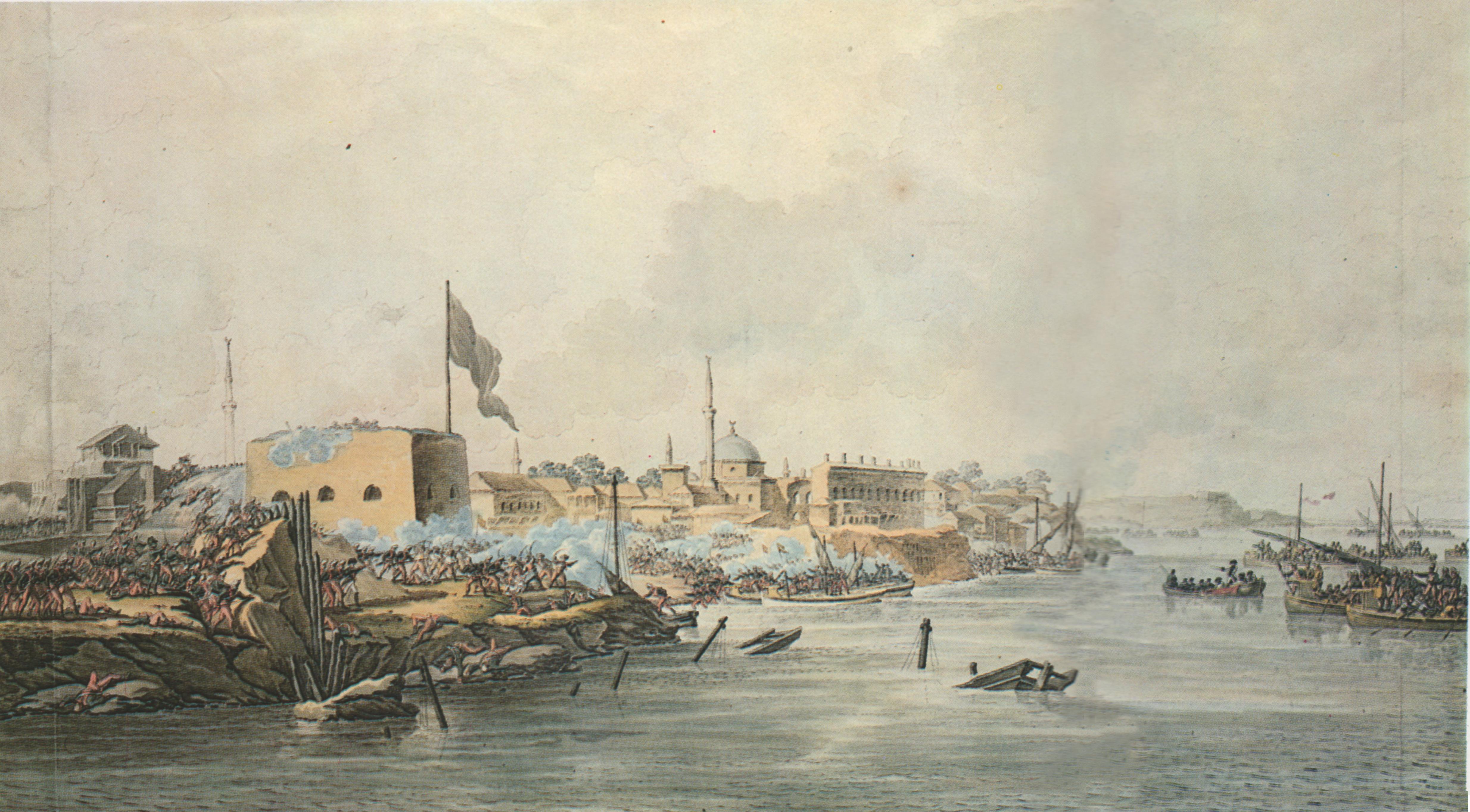 Штурм Измаила 11 декабря 1790 года. (М.Иванов). Картина создана прямо во время сражения