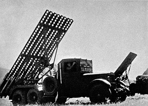 """БМ-13 """"Катюша"""" на шасси ЗиС-6"""