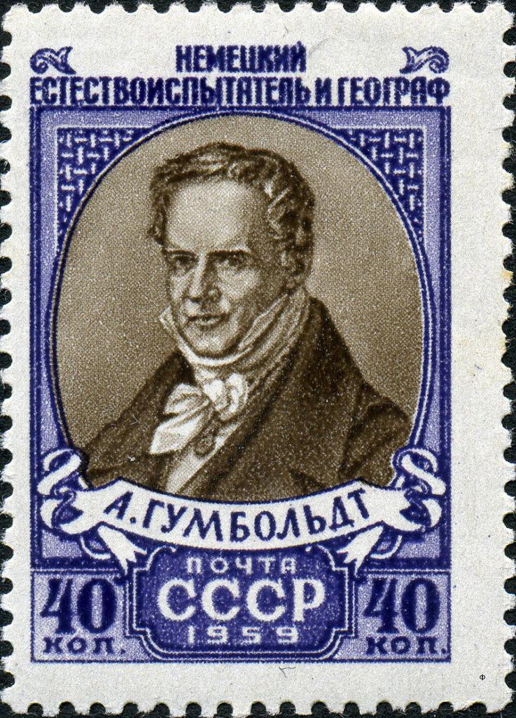 Немецкий географ, натуралист и путешественник барон Александр фон Гумбольдт