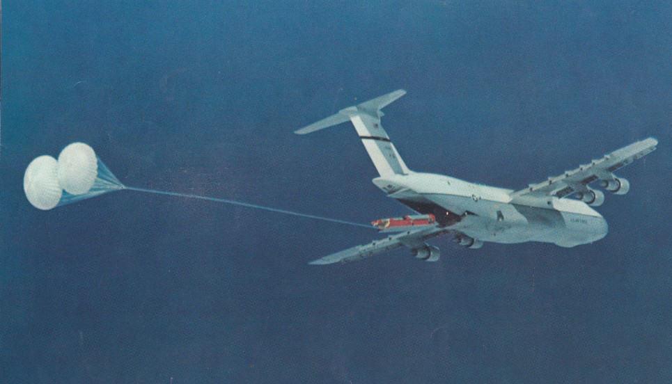 Старт БРДД «Минитмен» с борта С-5А «Гэлакси» в 1974 г.