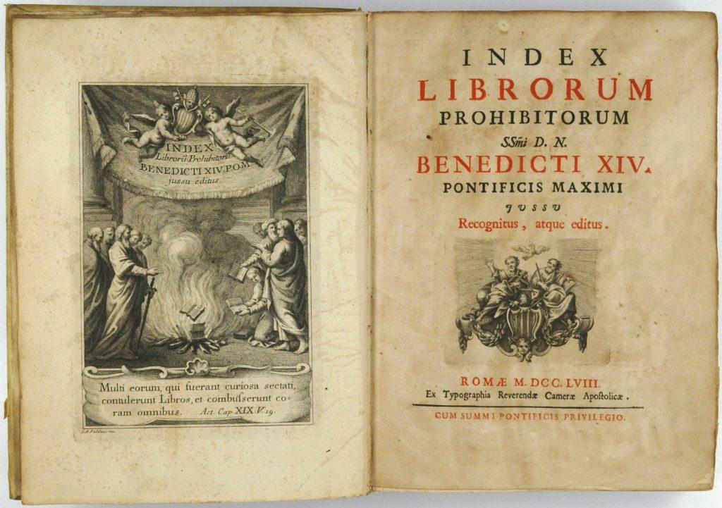 Индекс (список) запрещённых книг
