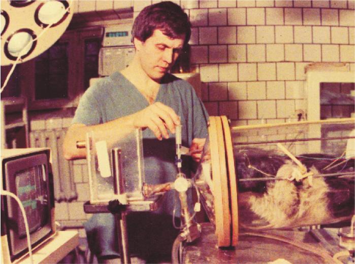 Первые эксперименты с жидкостным дыханием, 1987 год