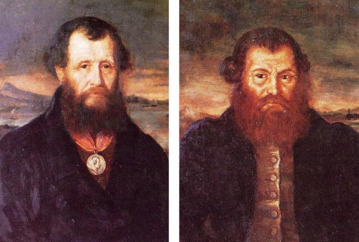 Ефим Алексеевич (отец) и Мирон Ефимович (сын) Черепановы